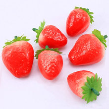 Cute Mini Artificial Fruit Foam Faux Fake Strawberry For House Party Kitchen Decor