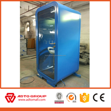 Red color office soundproof booth office phone booth for sale