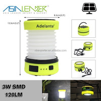 for Emergency, Hiking, Camping, 50% Light-100% Light-OFF Solar Rechargeable LED Camping Lantern