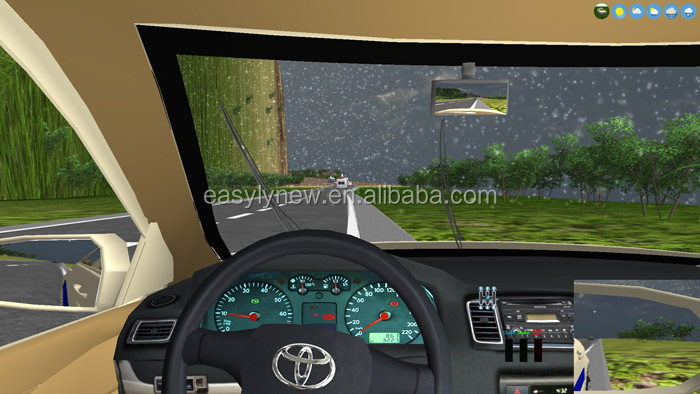 Motion car driving simulator