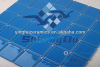 48x48 glass crystal mosaic tiles for swimming pool and home decoration