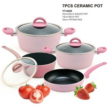 pink pots and pans