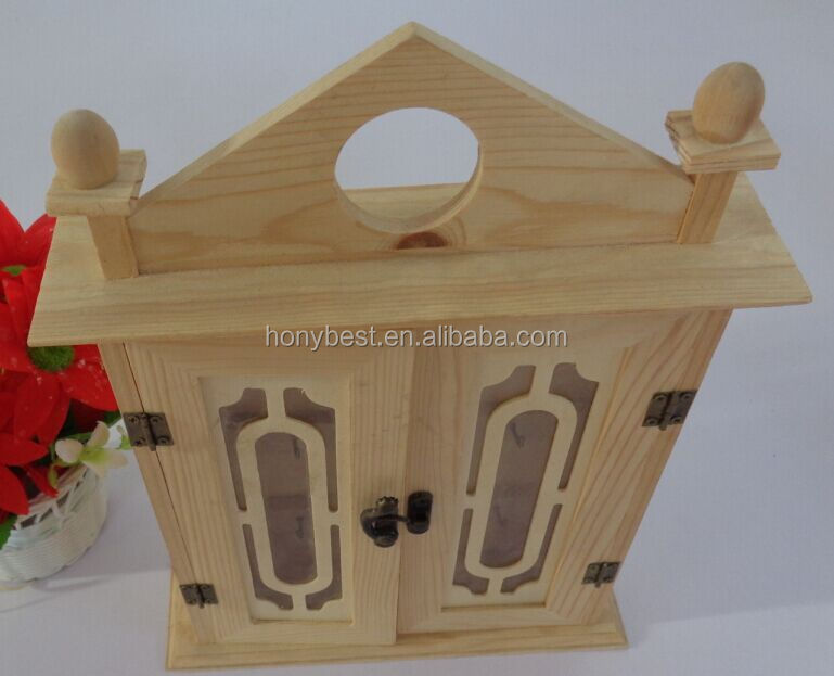 Reclaimed unfinished wood crafts key lock holder box for for Unfinished wood pieces for crafts