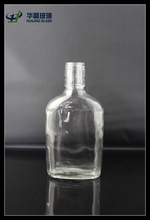 250ml long neck whisky bottle glass with aluminum screw lid wholesale