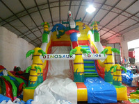 2016 New and attractive dinosaur slide inflatable