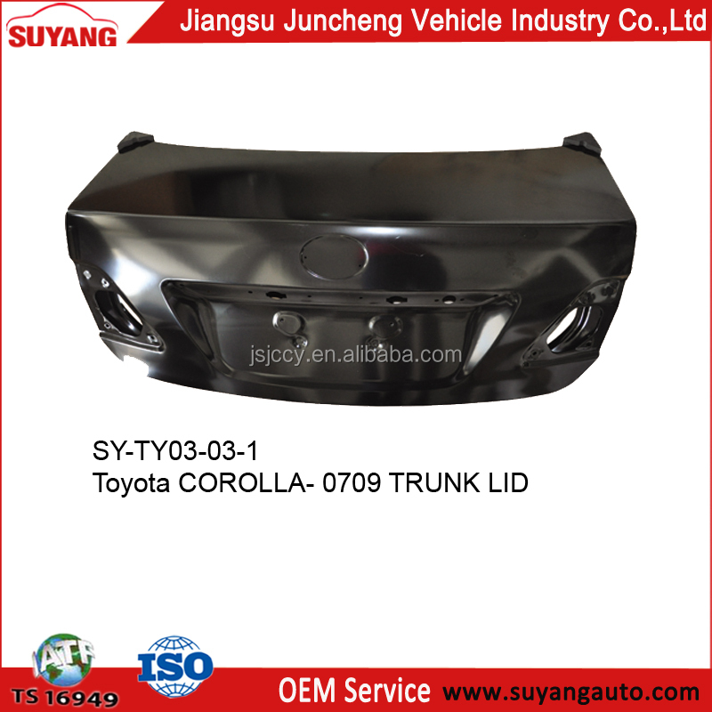 SUYANG High Quality Trunk Lid For Toyota Corolla 07-12 Auto Body Parts