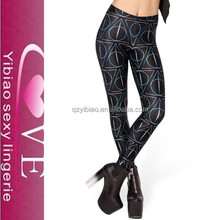 Wholesale 2015 New Stylish Sex Girls Luster Printed Tights Leggings