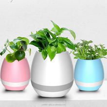 creative mini decorative smart singing plant pot indoor