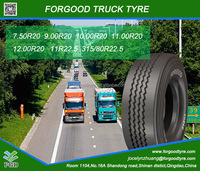 ECE DOT GCC BIS radial truck tyre manufacturer in china FORGOOD brand TBR tyre size 7.50R20/9.00R20 TO 315/80R22.5