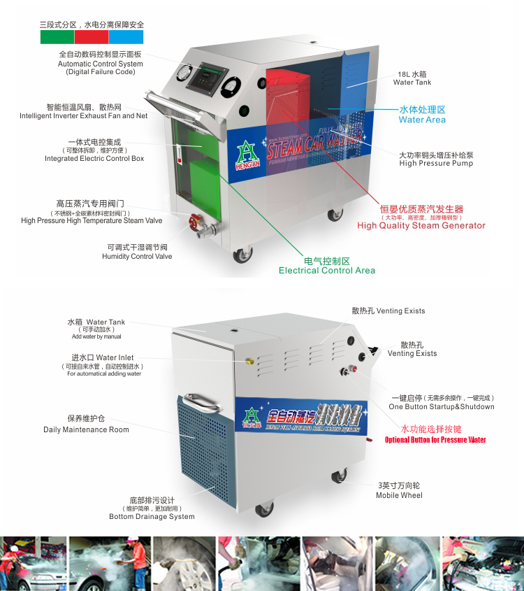 vapor steam car wash machine/vapor steam car washer