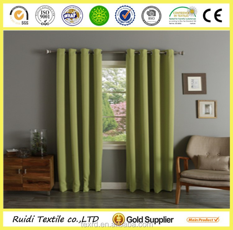 various colors home decorative top thermal grommet blackout curtain