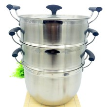 LFGB Certified 30cm Eco-friendly Korea Style 3 Layers Multipurpose Stainless Steel Steamer