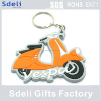 Hot sale designing custom keyring motorcycle rubber keychain