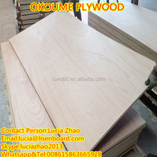 Cheap 3-ply okoume plywood from plywood factory