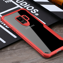 Stylish phone accessories aseismic airbag TPU+PC transparent clear wholesale cell phone case