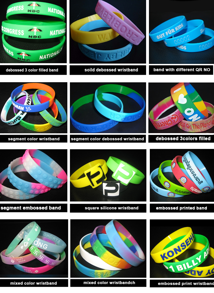 2018 hot selling eco-friendly custom made silicone wristband
