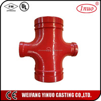 UL and FM Certificates Ductile Iron grooved Reducing cross price