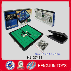 Hot sale intelligent folding magnetic flip chess game toy