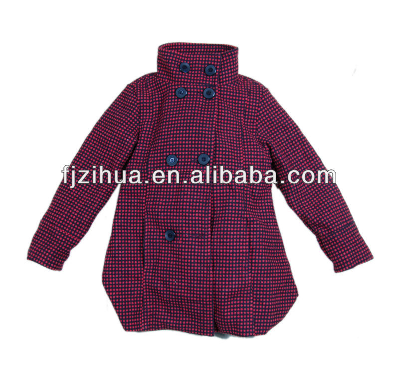 Girls fashion spring woolen jackets hot selling