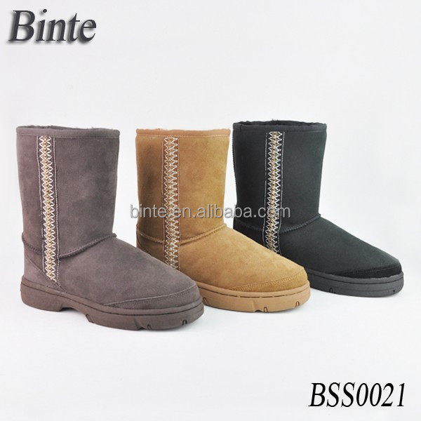 Cheap and high quality durable knit boots light shoes with TPR sole,snow winter sheepskin boots real fur shoes