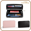 high end fashion design genuine leather wallet women leather zipper wallet business men leather wallet