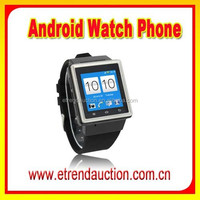 New Arrival MTK 6577 Dual Core WIFI 3G WCDMA Android Phone Watch Support Google Play Store