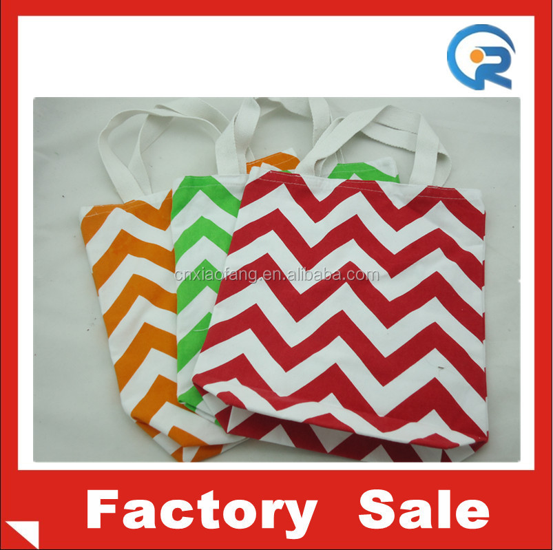 Custom printed chevron tote bag