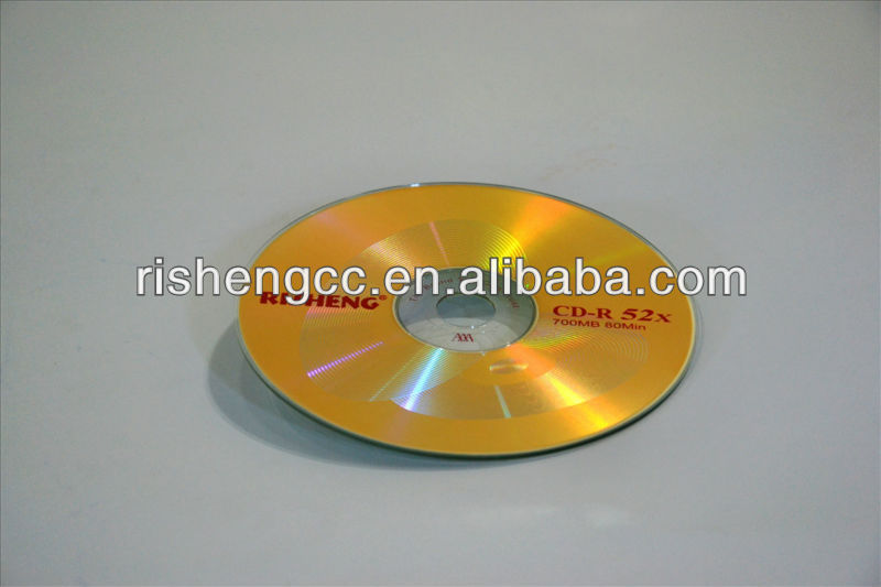 hot sale cheap RISHENG cd-r disk 52x 700mb BLANK CD-R hard disk with printing logo or OEM logo wholesale
