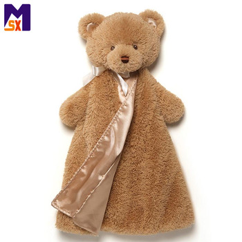 Custom plush toy bear baby blanket teddy bear baby blanket