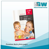 GW A4/A3 /roll size white inkjet matte/glossy /super-glossy photo paper for inkjet digital printing