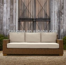 2015 Sigma factory high end resin wicker 3 seater sofa dimensions