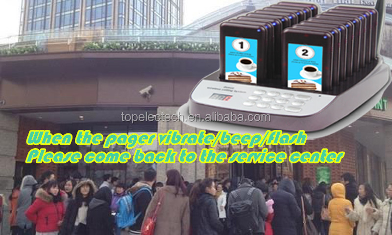 Cheap wireless queue waiter calling system / coaster pager system / restaurant guest paging system
