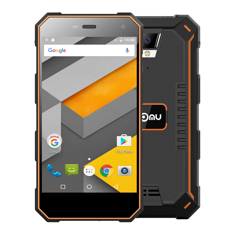 Nomu S10 Mobile Phone 5 Inch Quad Core 2GB+16GB MTK6737T Smartphone 5000mAh Quick Charge 13.0MP 1080x720 IP68 Waterproof Phone