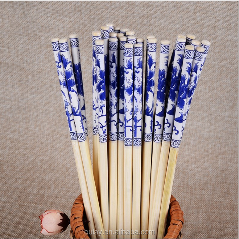 Blue And White Porcelain /China Bamboo Eco-friendly Chopsticks