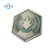 Promotional metal leaf die casting lapel pin, custom enamel lapel pin