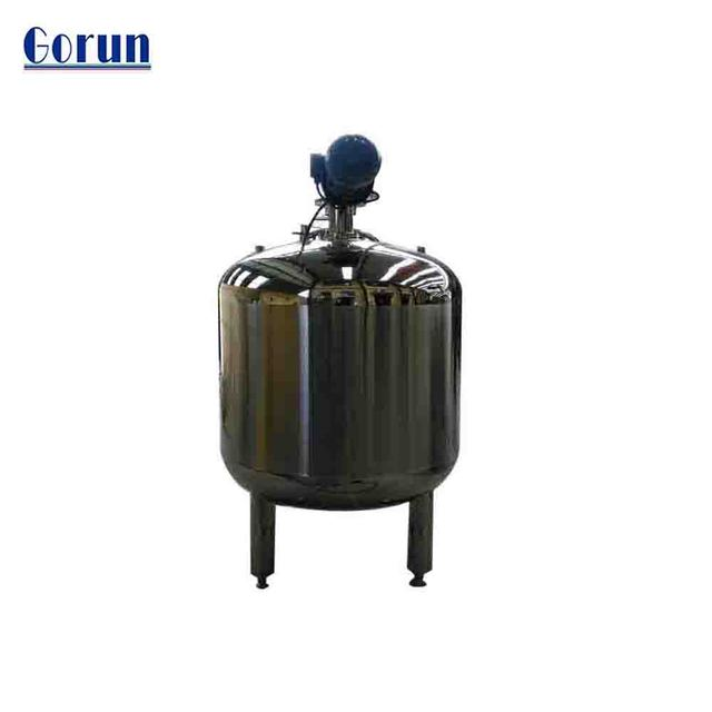 SS body cream tank with mixing system/blender