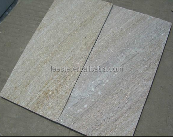 Golden White Quartzite Tiles, Slabs, Culltured Stones, Stacked Stones and Ledges Stones