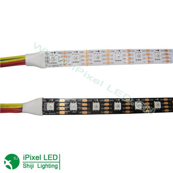 apa102 ic control programmable rgb led strip 60 leds