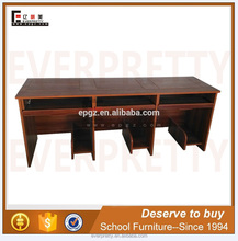3 person computer desk table fix, portable computer desk folding table, student learning desk