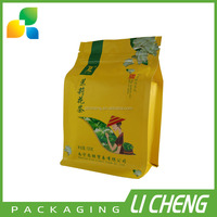 Coloeful printing square bottom ziplock bag / jasmine tea bag packaging