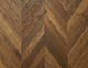 smoked European Oak chevron engineered parquet wood flooring