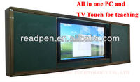 Touch LED multimedia machine Intelligent Whiteboard with push-pull blackboard for School Education