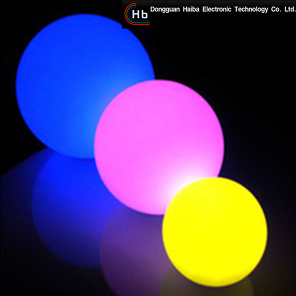 haiba LED RGB crystal magic ball event lighting colour changing solar garden lights