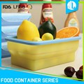 Professional company silicone collapsible preserving sealable food container