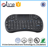 New arrival Built-in high sensitive smart touchpad i8 wireless keyboard for android tv box rii i8 keyboard mouse