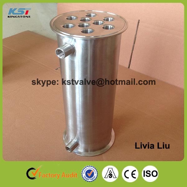 Factory sale high quality low price stainless steel ss304 tri clamp kingstone pipe spools 4x10 inch with 3/4 drain port