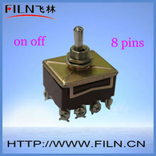 8 pin on off mini mil spec toggle switch
