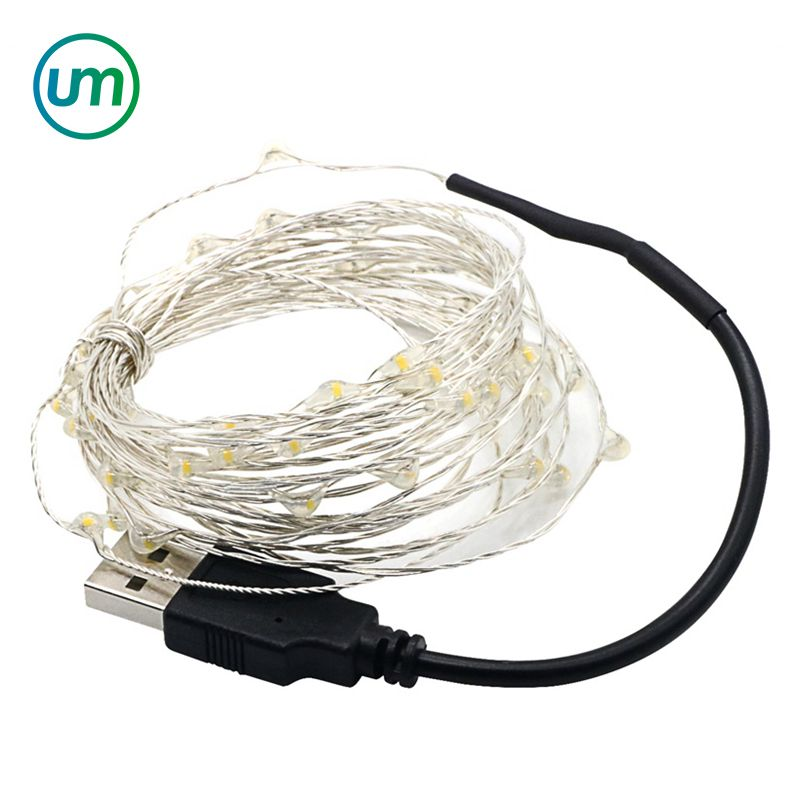 5M 50 LED Waterproof LED Copper Wire LED Fairy String Light 5V USB Operated String Light