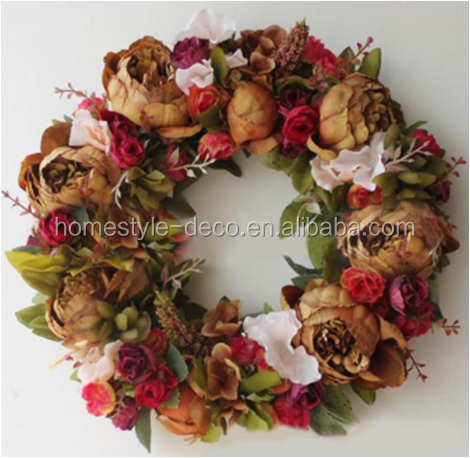 Spring flower wall wreath door wreath artificial flower wreath