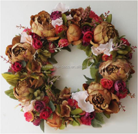 Spring flower wall wreath easter door wreath artificial flower wreath